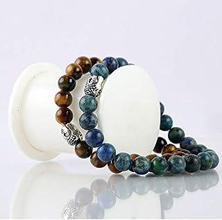 Aatm Natual Healing Gemstone Turquoise with Malachite Bracelet
