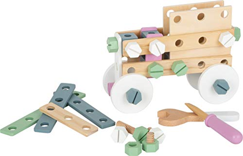 Small Foot 11875 Konstruktionsset Nordic aus Holz, kreativer Bausatz mit Werkzeugen und Zubehör, für Kinder ab 3 Jahren Spielzeug