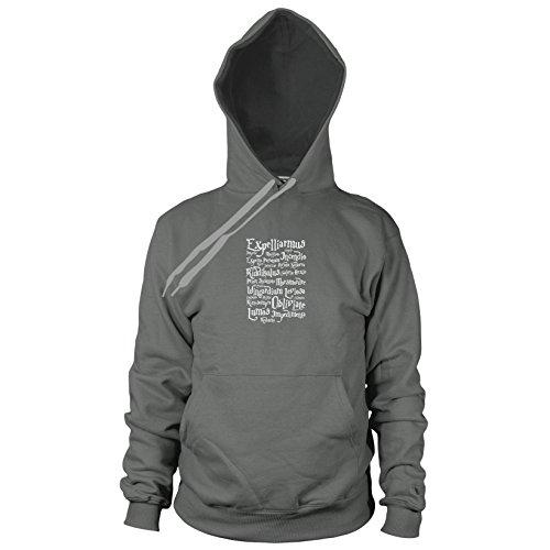 Planet Nerd Expelliarmus - Herren Hooded Sweater, Größe: XXL, Farbe: grau
