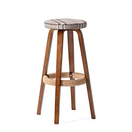 Taburete alto de madera sólida con el taburete lavable desprendible del taburete Pedal torcido mano del cáñamo de la cuerda conveniente para la barra del café Bar Barra contraria silla ( Color : G )