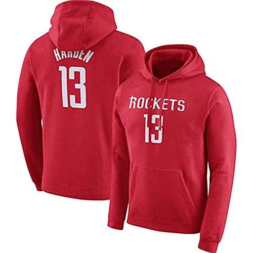 NBA Jersey Con Capucha For Niños Houston Rockets James Harden Capucha De Manga Larga Camiseta De Los Hombres De La Sudadera Con Capucha Cómoda Sudadera Con Capucha ( Color : Red 2 , Size : X-Large )