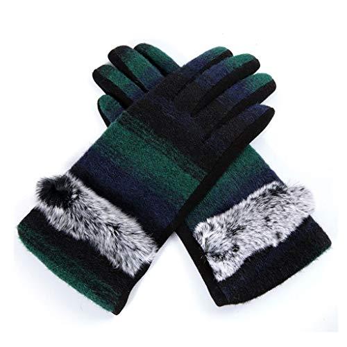 ZXC Home handschoenen voor huishoudelijk gebruik, dik fluweel, voor buiten, warm, katoen, ademend, all-vinger handschoenen, 4 kleuren optioneel