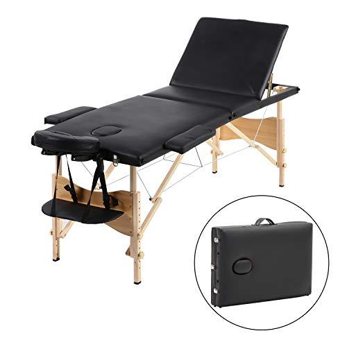 Meerveil Table de Massage Pliante de 3 Sections Lit...