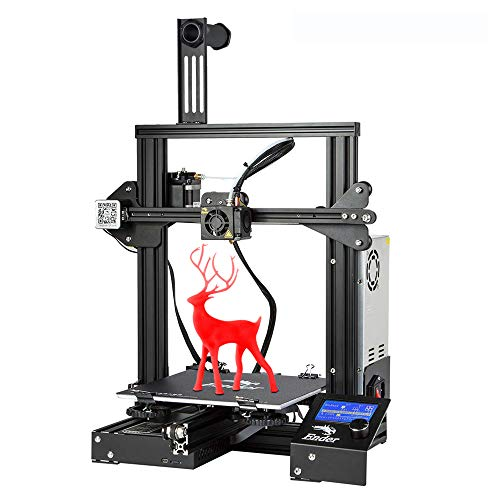 3D Printer Ender 3, Creality Store Newest Version of Ender 3 with removeable Fiberglass Building Plate and Resume Printing