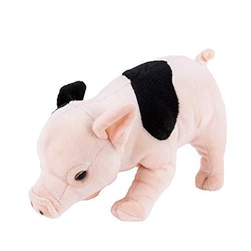 Teddys Rothenburg Kuscheltier Schwein stehend rosa/schwarz gefleckt 27cm Plüschschwein