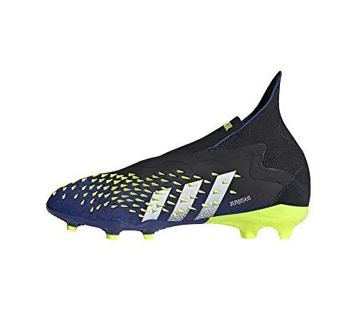 adidas Predator Freak + FG Niño, Bota de fútbol, Black-White-Solar Yellow, Talla 5.5 UK (38 2/3 EU)