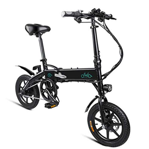 Pliuyb Electric Bicycle, E-Bike Folding Electric Bikes for Adults Men Women Outdoor Travel Mountain Bycicle 250W 36V 7.8AH Lithium-Ion Battery LED Display Max Speed 25Km/H Maximum Loading 120Kg