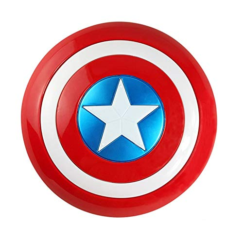 Captain America Metall Schild Edler Ritter Schild Wandbehang Dekorationen Full Metal Handheld Filmversion Erwachsene Und Kinder Toy Up KostüMe Anzug Wohnraumdekoration B,24in