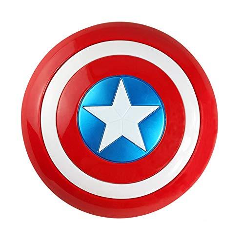 Captain America Schild Verdickte Sound Und Licht Version Cosplay Requisiten 75. Jahrestag American Shield Captain America Halloween Rollenspiel Superheld Kostüm Kostüm A,32cm
