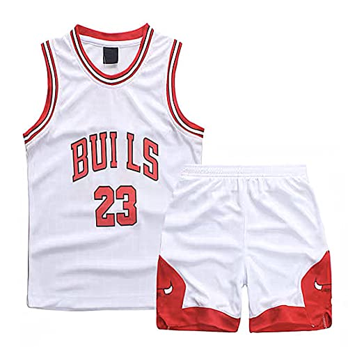 TYTF Conjunto de camiseta de baloncesto sin mangas para niño, de malla, uniforme y pantalón corto, para verano, de 1 a 15 años, Serie 1, XS(110-120CM)