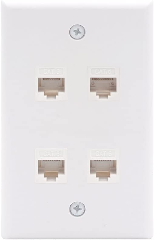 VCE 4 Port Cat6 Female to UL Listed Max 46% OFF Plate Direct store Wall Connector