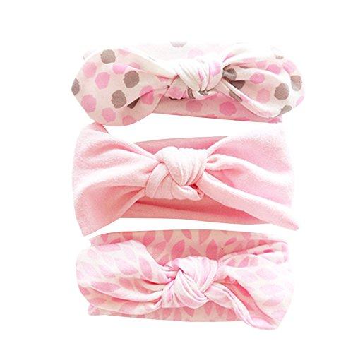 Topgrowth Fascia Capelli Bimba Fasce di Fiore Neonata Cerchietto Elastico Accessori per Capelli a Fiori 3Pcs Headband