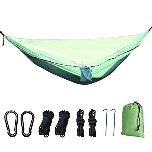 BASA Outdoor hammock, parachute cloth elastic band mosquito net, garden hammock, outdoor ultra-light hammock 270 * 140cm