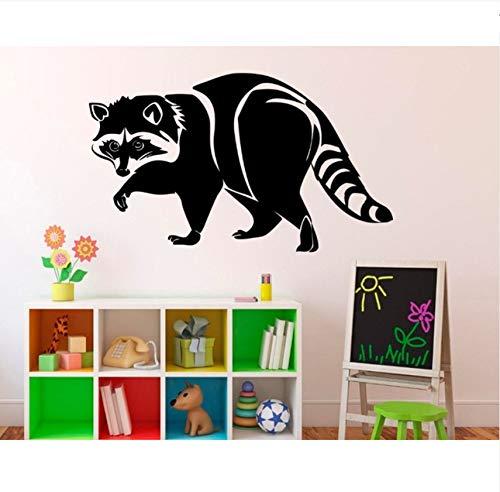 Lovemq Wilde Tiere Aufkleber Waschbär Aufkleber Wandaufkleber Für Kinderzimmer Schablonen Für Wände 33X57Cm