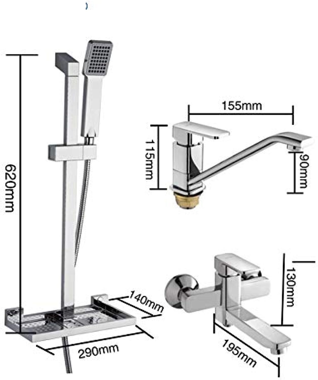 QBMWFC Water Mixer Bathroom Basin Faucet Single Shower Bath Set Mixer Faucet Brass Wall Mount Faucet Slide BarG2898G2898