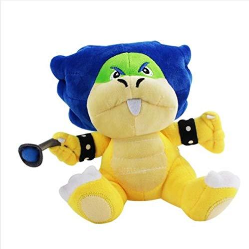 N/D Kuscheltier Super Mario Bowser Bros Ludwig Von Koopa Mit Blue Turtle Shell Gefülltes Plüschtier 20Cm