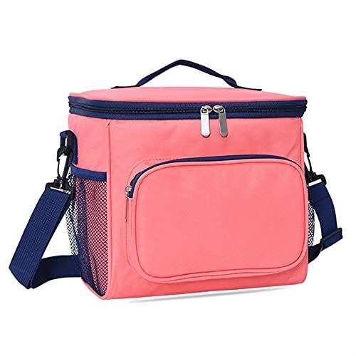 QASUF Wärmedämmung Cold Bag Große Damen Herren Picknick Lunchbox Reise Grill Mahlzeit Reißverschluss Tasche Zubehör (Color : Pink)