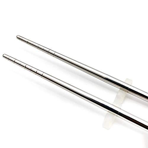 HawkZing折り畳み箸ステンレス分解可能丸い端短い版収納袋付き鈎付き(2膳のセット)