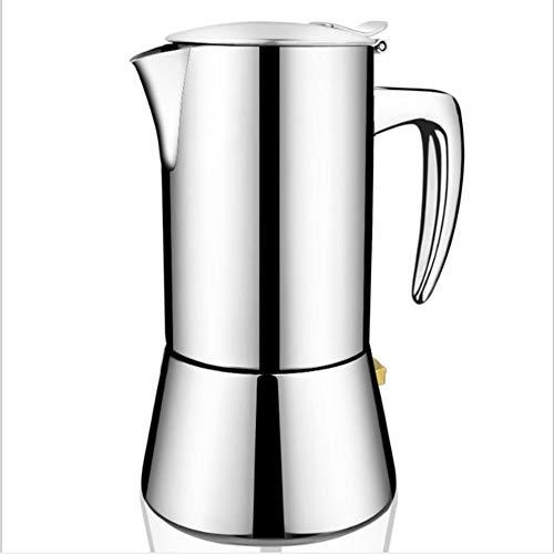 Argento Acciaio Inox Piano Cottura Moka Macchina da Caffè Espresso Pentola