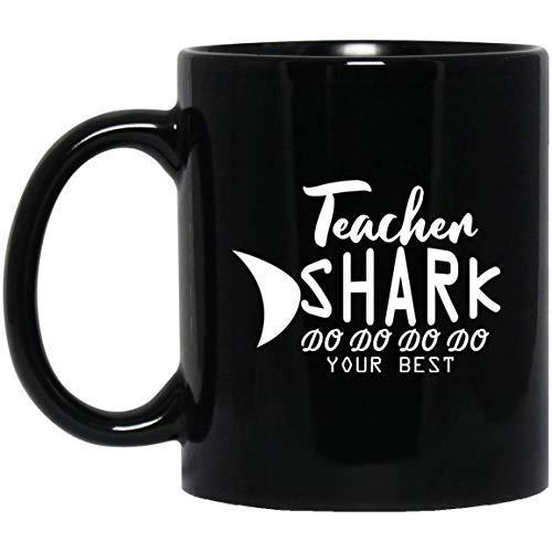 Queen54ferna Teacher Shark Doo Doo Doo - Taza para profesor (11 oz)