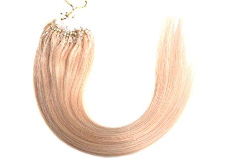 "Emosa 22"" 50g 100strands Stick Micro Loop Straight Human Hair Extensions #24 Ash Blonde"