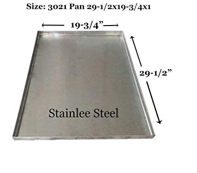 "Pinnacle Systems Floor Pan Metal Dog Pan Tray for Dogs Replacement Tray for Dog Crate Pan 29 Dog Crate - Central Metal - SS - 29 1/2"" x 19 3/4"" x 1"" H"