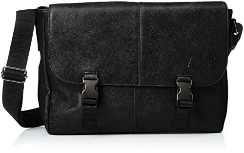 Armani Exchange - Messenger Bags, Bolso Hombre, Negro (Nero), 27.0x11.0x34.0 cm (B...
