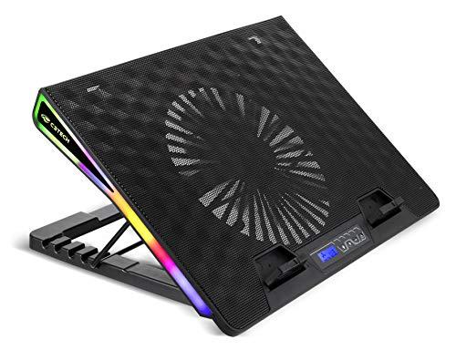 """Base Para notebook C3Tech NBC-500BK 17,3"""" Preto Gamer Led RGB - Refrigerada Com Cooler 185mm controle da velocidade dos Fan ate 6 opcoes, com regulagem de altura em 5 posicoes."""