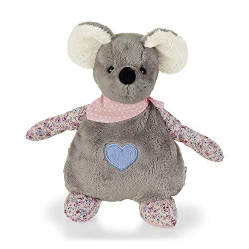 Sterntaler Wärmekissen Maus Mabel, Für Babys ab dem 1. Monat, 25 cm, Grau/Mehrfarbig
