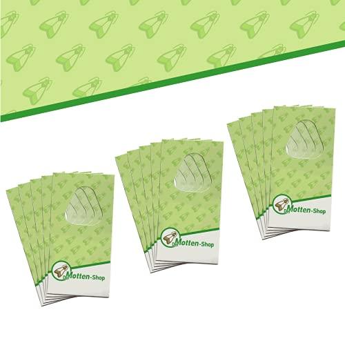 Der Motten-Shop, 4 Karten je 3 Lieferungen, Schlupfwespen gegen Lebensmittelmotten, biologische und nachhaltige Mottenbekämpfung, Umweltfreundliche und giftfreie Alternative zu Mottenkugeln oder Mottenspray