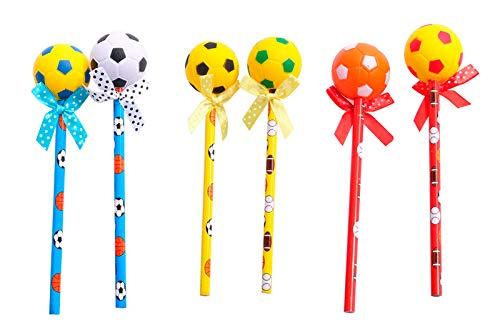DISOK Set di 12 matite pallone da calcio originali per matrimoni, battesimi, comunioni, eventi, feste.