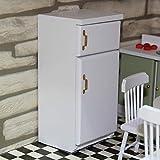 GRASARY 1/12 Maßstab Holz Mini Kühlschrank Kühlschrank Puppe Haus Möbel Dekor Kinderspielzeug,...