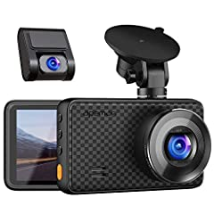 ULTRA HD RESOLUTION - With WQHD 1520P at 30FPS, 1440P & 1080P dual lens, capture the roads simultaneously in super clear definition.Equipped with 170° wide angle for dual cameras monitors all directions without visual blind zone. RECORD LONGER TIME V...