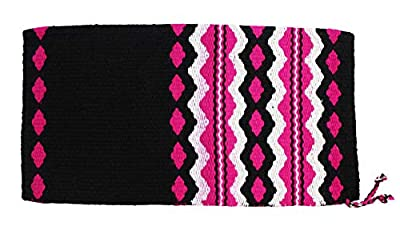 CHALLENGER 34 x 36 Horse Wool Western Show Trail Saddle Blanket Rodeo Pad Pink 3601