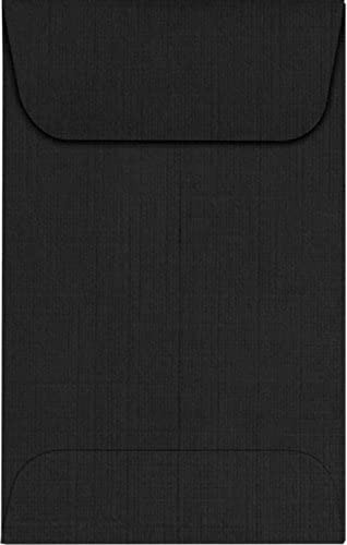 LUXPaper Coin Envelopes Black Linen 2 SEAL limited product 1 3 Animer and price revision 2-Inch x 5 4-Inch
