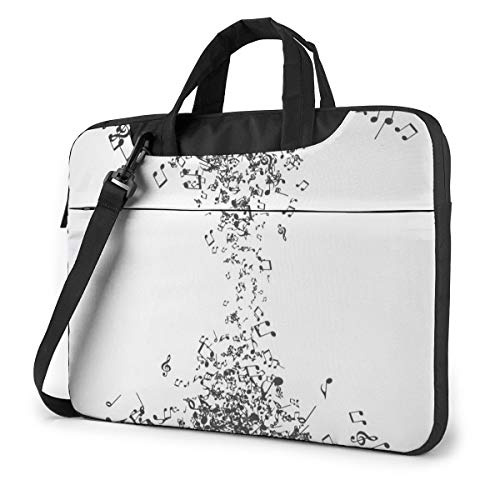 Music Notes Texture Laptop Bag Case Sleeve Briefcase Computer Organizer for Women Men 13'