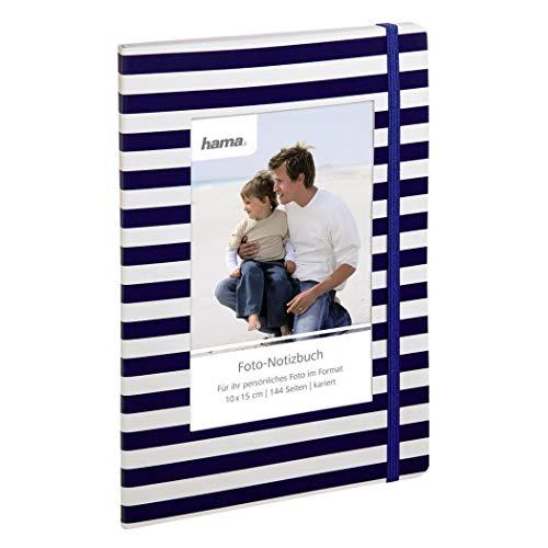 Hama Notizbuch Ulli, 15 x 21 cm, 144 Seiten, blaue Streifen