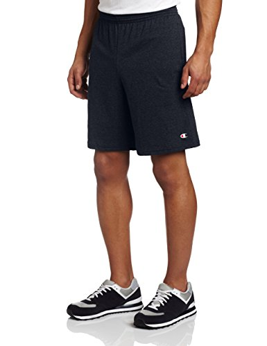 Champion Men's Jersey Short With Pockets, Navy, X-Large