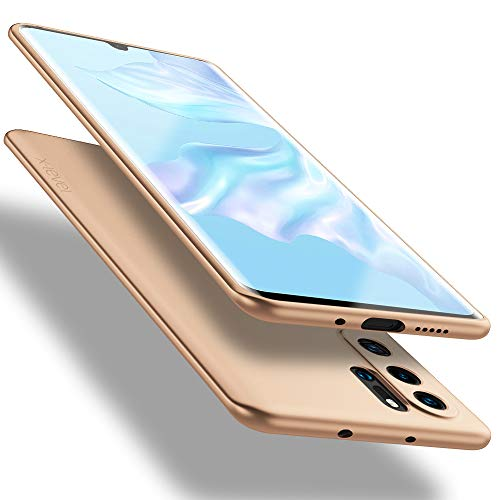 X-level für Huawei P30 Pro Hülle, [Guardian Serie] Soft Flex TPU Hülle Superdünn Handyhülle Silikon Bumper Cover Schutz Tasche Schale Schutzhülle Kompatibel mit Huawei P30 Pro New Edition - Gold