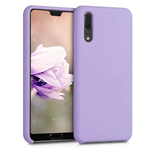 kwmobile Hülle kompatibel mit Huawei P20 - Handyhülle gummiert - Handy Hülle in Lavendel