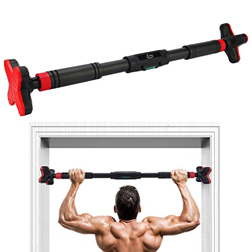 KMM Pull Up Bar for Doorway, Chin Up Bar No Screw Installation, Upper Body Workout Bar, Exercise Fitness Workout Bar...