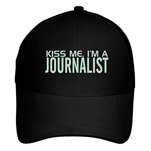 Idakoos KISS ME, I AM a Journalist Baseball Cap Black
