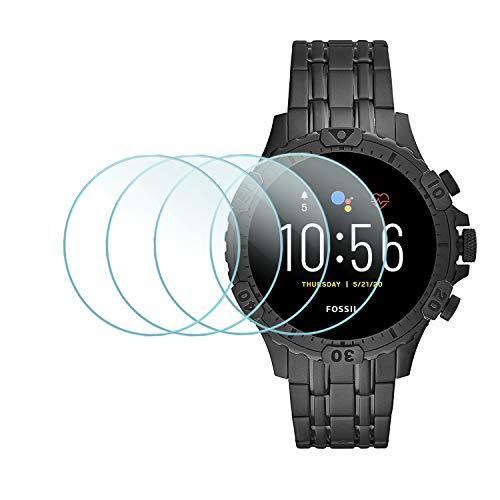 Suoman 4-Pack for Fossil Gen 5 Garrett Screen Protector, Tempered Glass Screen Protector for Fossil Gen 5 Garrett Smartwatch [2.5D 9H Hardness] [Anti-Scratch]