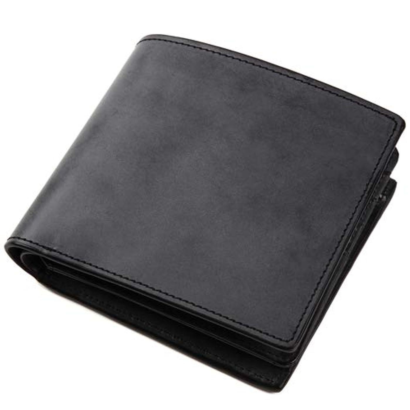 備品攻撃的専制[ラファエロ] Raffaelo 英国王室が愛する表裏フルブライドルレザー メンズ二つ折り財布