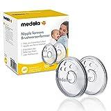 Medela Brustwarzenformer – Formt umgekehrte oder flache Brustwarzen zur Vorbereitung auf das Stillen – BPA-frei – Einheitsgröße für alle Mütter – 2er-Pack