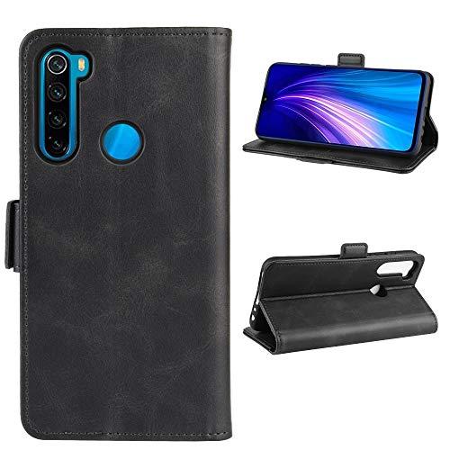 La selección de Cici For Xiaomi redmi Nonte 8T Doble Hebilla Caballo Loco de Negocios del teléfono móvil de la pistolera con Tarjeta de la función del Soporte Wallet (Negro) (Color : Black)