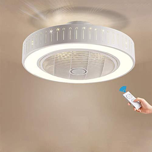 Led-ventilator, rond, plafond, creatieve plafondventilator, dimbaar, afstandsbediening, voor binnen, kinderkamer, woonkamer, slaapkamer, decoratieve verlichting