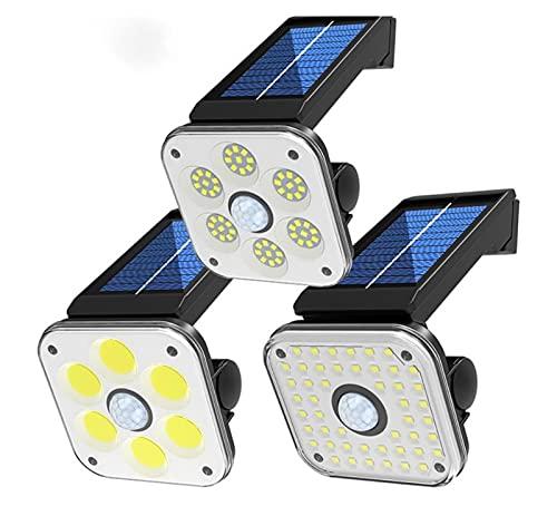 XHBH Lámpara de Pared Reutilizable de la luz de la luz Reutilizable de la luz de LED Solar portátil con la Linterna de la Calle Impermeable del Invernadero del Invernadero del Sensor de Movimiento