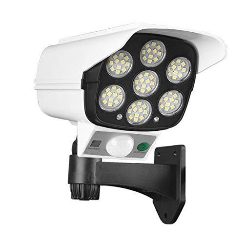 La Cámara Simulada Al Aire Libre Seguridad CCTV De Energía Solar De La Simulación De Luz con Pir del Sensor De Movimiento Intermitente Led 113 COB