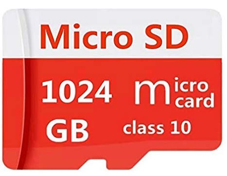 512GB/1024GB Micro SD Card Memory Card with Adapter MicroSD High Speed Class10,U1,A1 Memory Card for Phone, Tablet e PCs (1024GB-B Red)